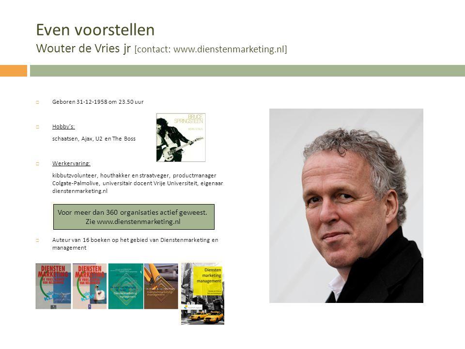 Even voorstellen Wouter de Vries jr [contact: www. dienstenmarketing